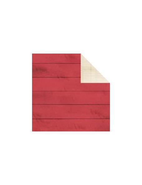 "Simple Stories - I Heart Summer Cardstock de doble cara 12""X12"", Red Boardwalk/Ledger Simple Basic"