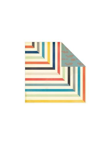 "Crate Paper Boys Rule Cardstock de doble cara 12""X12"", Topscore"