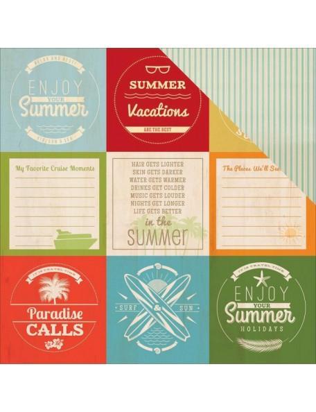 """Bobunny Beach Therapy Cardstock de doble cara 12""""X12"""", Summer"""