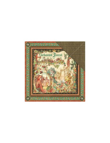 """Graphic 45 - Enchanted Forest Cardstock de doble cara 12""""X12"""", Enchanted Forest"""