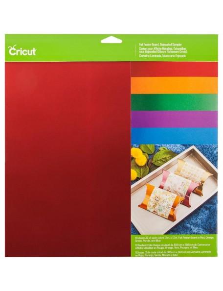 """Cricut 12""""X12"""" Foil Poster Board Sampler 10, Bejeweled"""