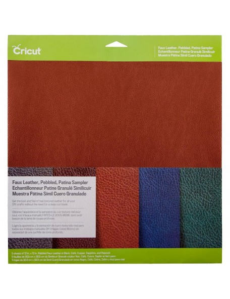 "Cricut Pebbled Faux Leather Sampler 12""X12"" 5, Pantina"
