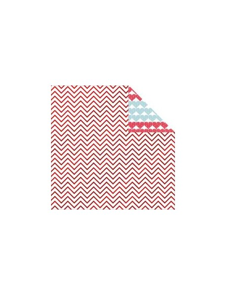"My Minds Eye - Cupid's Arrow No. 14 Foiled Cardstock de doble cara12""X12"" , Chevron"