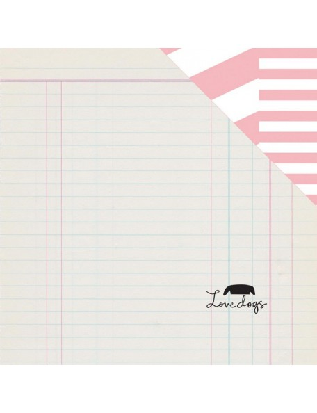 "Studio Calico - Seven Paper Baxter Cardstock de doble cara 12""X12"", 020"
