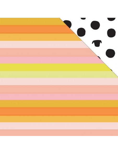 "Studio Calico - Seven Paper Baxter Cardstock de doble cara 12""X12"", 022"