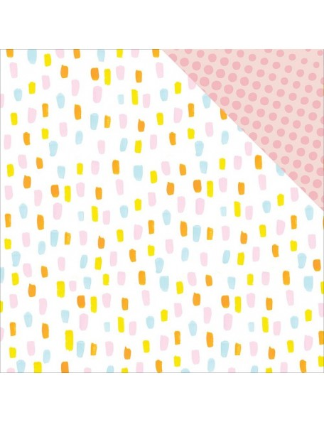 "Studio Calico - Seven Paper Baxter Cardstock de doble cara 12""X12"", 016"