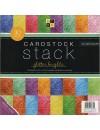 """DCWV Cardstock Stack Hojas de una cara 12""""X12"""" 30 Hojas 2 de cada, Glitter White Core"""