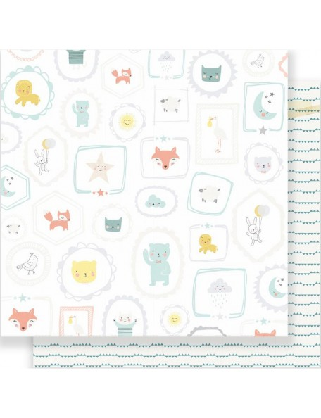 "Crate Paper Little You Cardstock de doble cara 12""X12"", Sweet Boy"