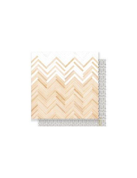 "Crate Paper - Little You Cardstock de doble cara 12""X12"", Loved"
