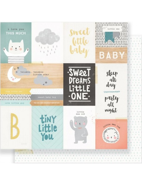 "Crate Paper - Little You Cardstock de doble cara 12""X12"", Little One"