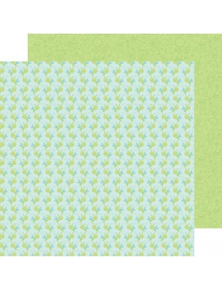 "Doodlebug Spring Things Cardstock de doble cara 12""X12"", Dragonfly Sky"