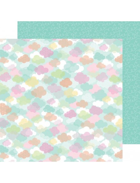 "Doodlebug Spring Things Cardstock de doble cara 12""X12"", April Showers"
