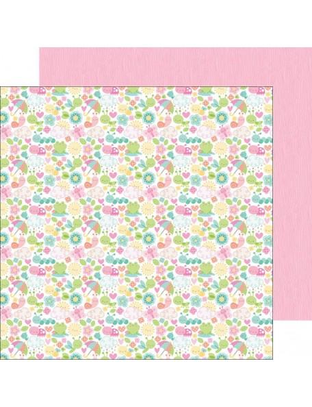 "Doodlebug Spring Things Cardstock de doble cara 12""X12"", Spring-A-Ling"