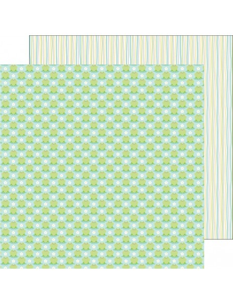 "Doodlebug Spring Things Cardstock de doble cara 12""X12"", Frog Friends"