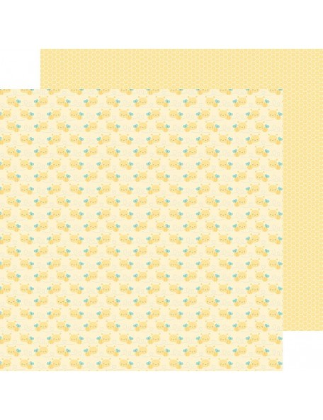 "Doodlebug Spring Things Cardstock de doble cara 12""X12"", Bitty Bees"