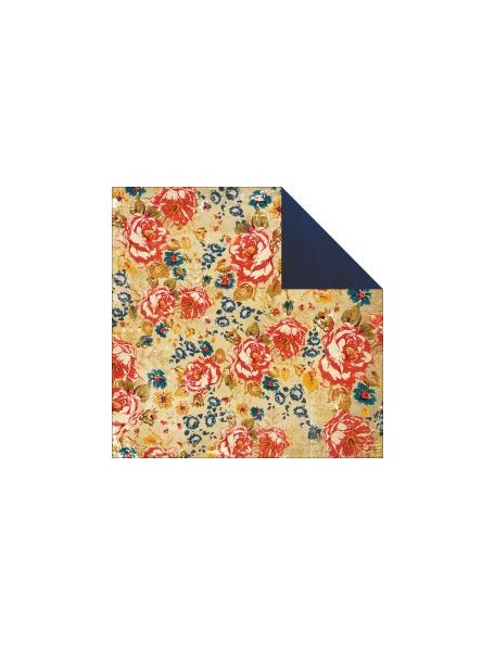 "Glitz Yours Truly Cardstock de doble cara 12""X12"", Floral"