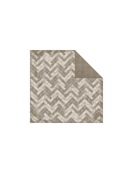 """Authentique Durable Cardstock de doble cara 12""""X12"""", Assemble Wood Plank Chevron/Geometric"""
