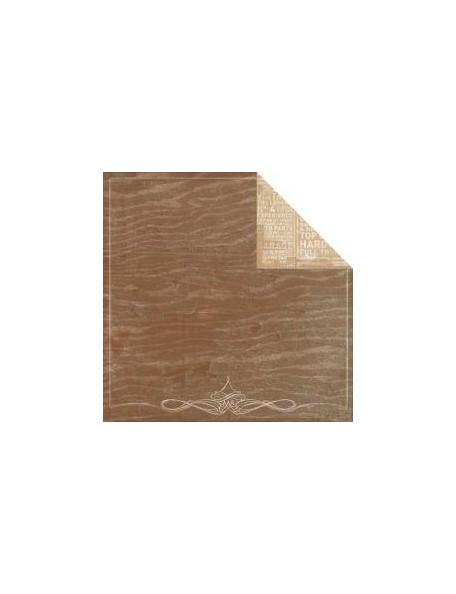 """Authentique - Durable Cardstock de doble cara 12""""X12"""", Ledgendary Woodgrain/Vintage Signs"""