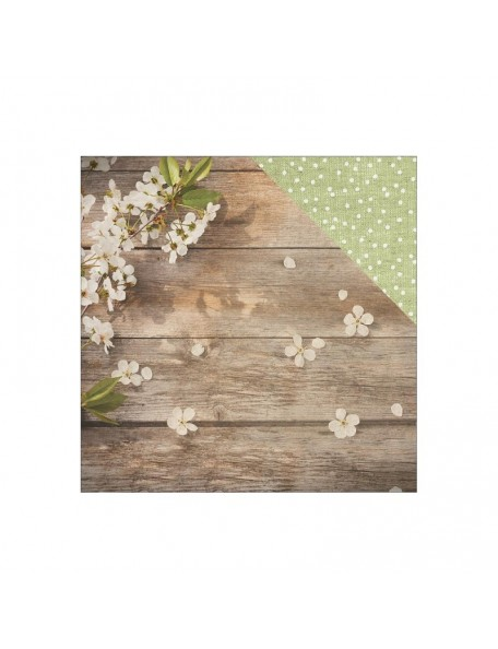 "Paper House Wedding Cardstock de doble cara 12""X12"", Apple Blossom"