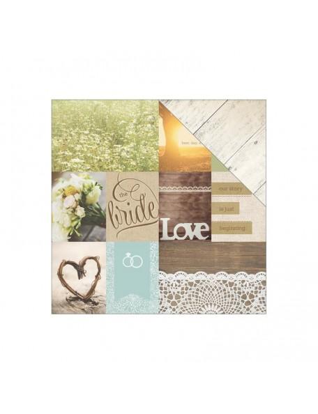 "Paper House - Wedding Cardstock de doble cara 12""X12"", Wedding Day Tags"