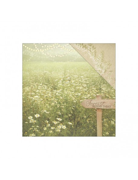 "Paper House Wedding Cardstock de doble cara 12""X12"", Forever Begins Today"