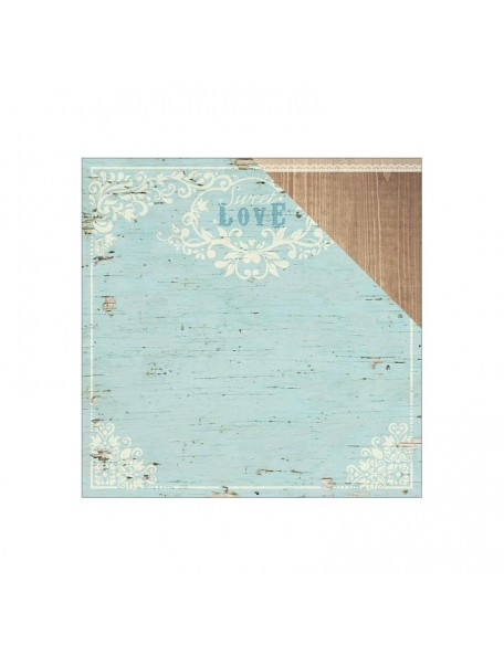 "Paper House Wedding Cardstock de doble cara 12""X12"", Love"