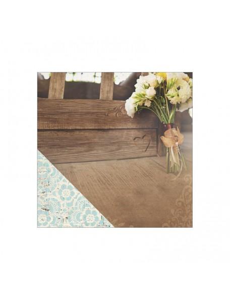 """Paper House - Wedding Cardstock de doble cara 12""""X12"""", Wedding Day Bouquet"""