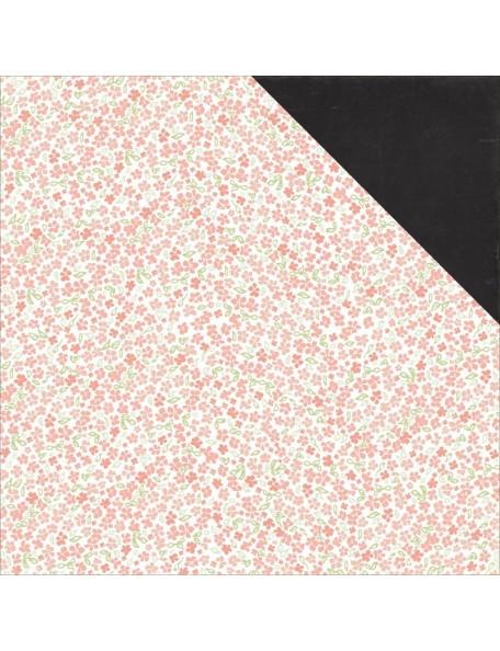 """Carta Bella - Rustic Elegance Cardstock de doble cara 12""""X12"""", Small Floral"""
