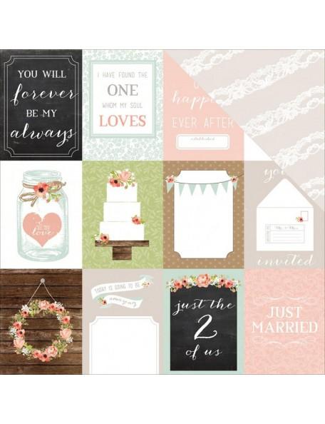 "Carta Bella - Rustic Elegance Cardstock de doble cara 12""X12"", 3""X4"" Journaling Cards"