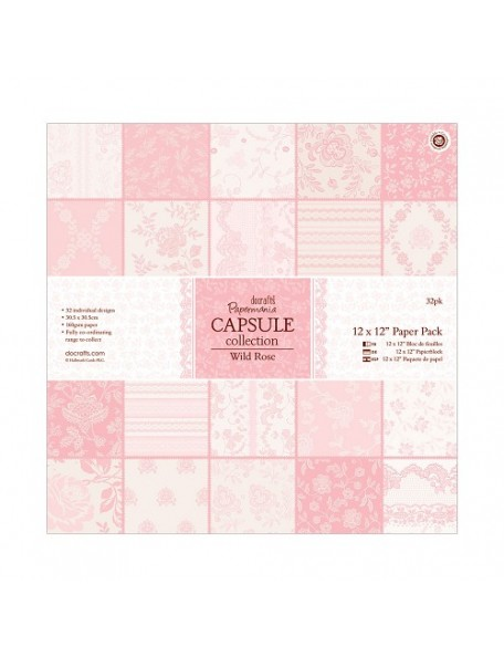 "Docrafts Bloc 12""x12"" Wild Rose"