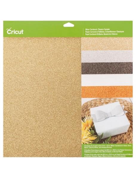 "Cricut Glitter Cardstock Sampler 12""X12"" 10, Classics"