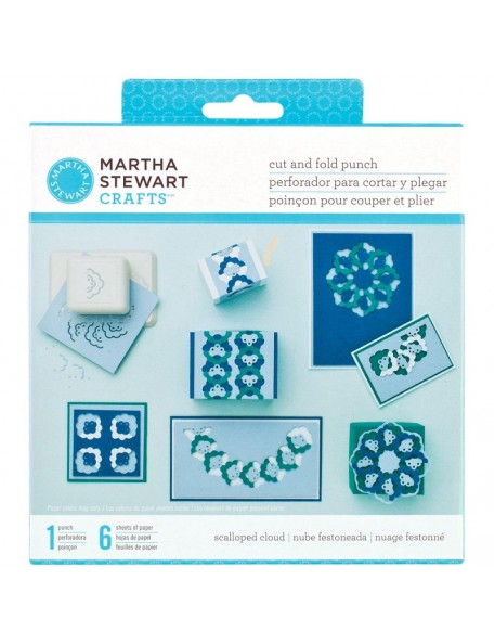 Martha Stewart Cut & Fold Punch Scalloped Clouds Descatalogado