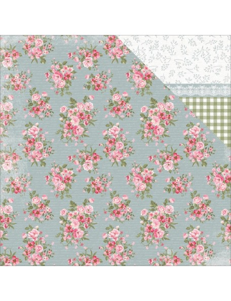 "Kaisercraft - High Tea Cardstock de doble cara 12""X12"", Tea Leaves"