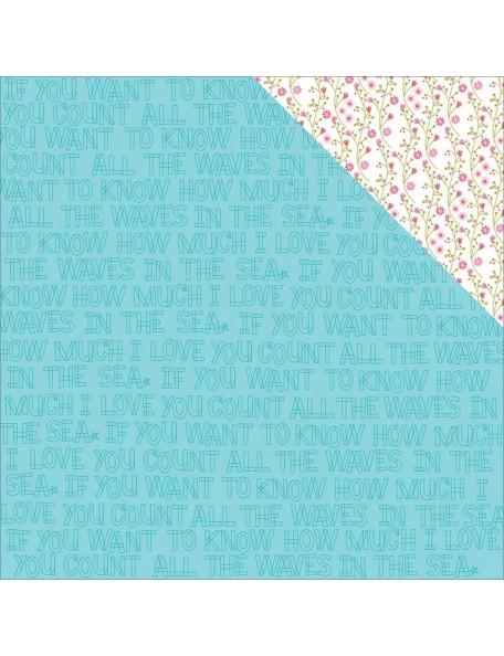 "Bella BLVD - Secrets Of The Sea Girl Cardstock de doble cara 12""X12"", Count The Waves"