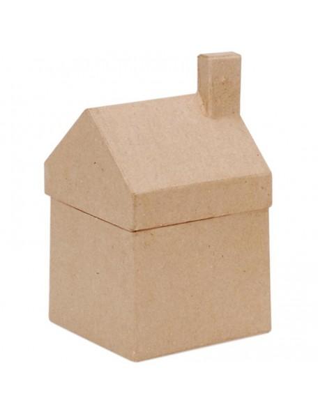 "Darice - Paper Mache House Box-3.5""X6.25""X3.625"""