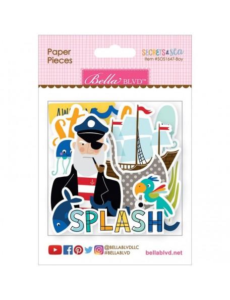 Bella BLVD - Secrets Of The Sea Boy Paper Pieces Cardstock Adornos