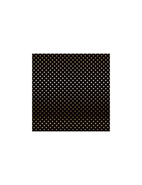 "Carta Bella - Foiled Dot & Stripe Cardstock de una cara 12""X12, Black W/Copper"