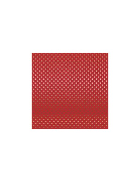 "Carta Bella - Foiled Dot & Stripe Cardstock de una cara 12""X12, Red W/Copper"
