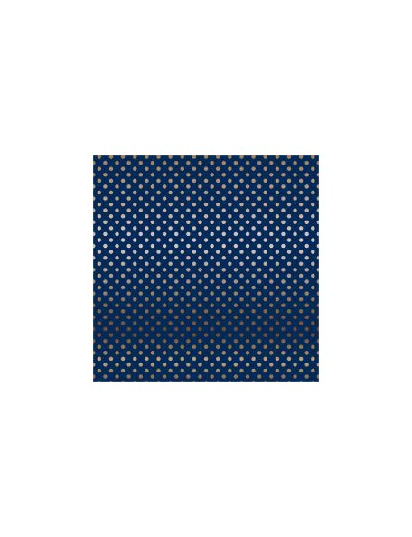 "Carta Bella - Foiled Dot & Stripe Cardstock de una cara 12""X12, Navy W/Copper"