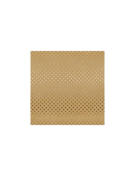 "Carta Bella - Foiled Dot & Stripe Cardstock de una cara 12""X12, Kraft W/Copper"