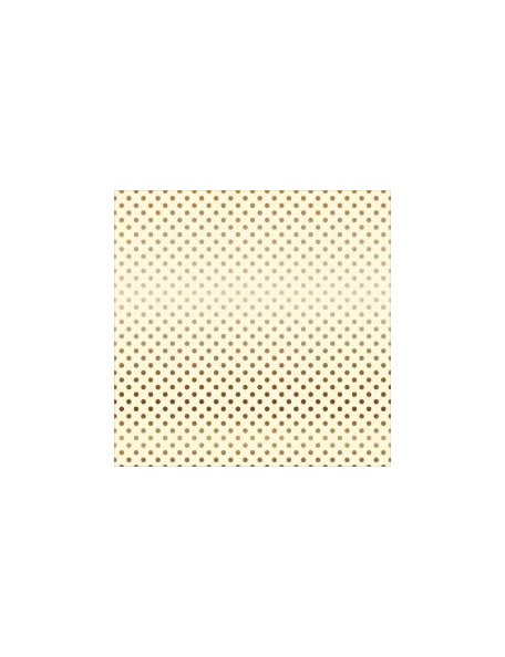 "Echo Park Foiled Dot & Stripe Cardstock de una cara 12""X12, Cream W/Copper"