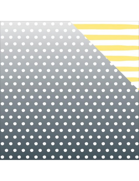 "American Crafts - Dear Lizzy Happy Place Cardstock de doble cara 12""X12"", Lemon Berry"