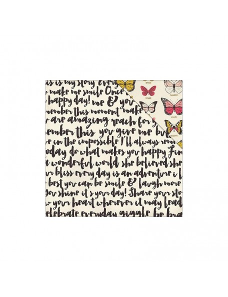 """My Minds Eye - My Story Foiled Cardstock de doble cara 12""""X12"""", This Moment"""