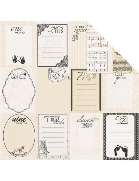 """Peek-A-Boo Paper - """"Pitter Patter"""", Kaisercraft"""