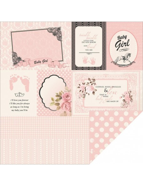"Kaisercraft - Pitter Patter Cardstock de doble cara 12""X12"", Bundle of Joy"