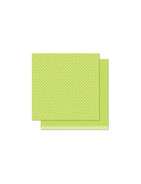 "Lawn Fawn - Let's Polka In The Meadow Cardstock de doble cara 12""X12"", Grasshopper"