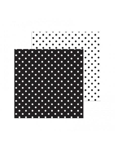 "Doodlebug Petite Swiss Dot Cardstock de doble cara 12""X12"", Beetle Black"