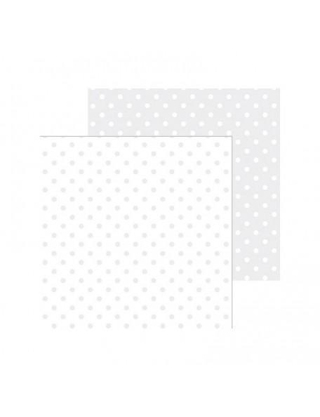 "Doodlebug Petite Swiss Dot Cardstock de doble cara 12""X12"", Lily White"