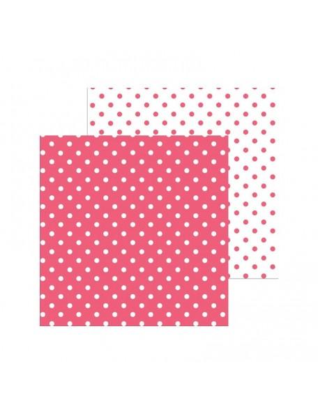"Doodlebug Petite Swiss Dot Cardstock de doble cara 12""X12"", Cherry"