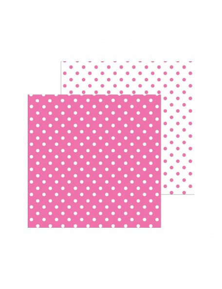 "Doodlebug - Doodlebug Petite Swiss Dot Cardstock de doble cara 12""X12"", Bubblegum"